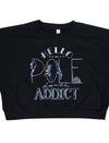 Pole Dancing Addict Cropped Fleece Sweatshirt