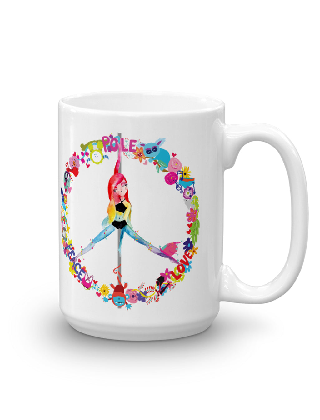 Peace, Pole, Love Mug