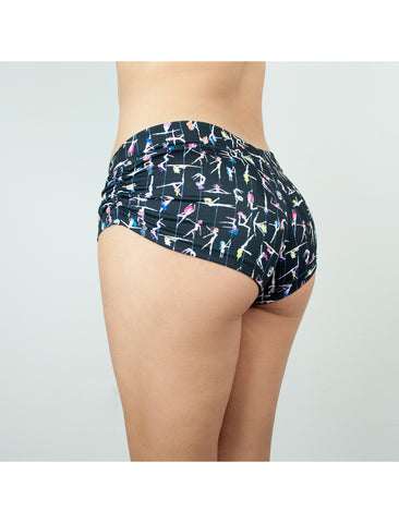 Circus Sloths Strappy Side Shorts