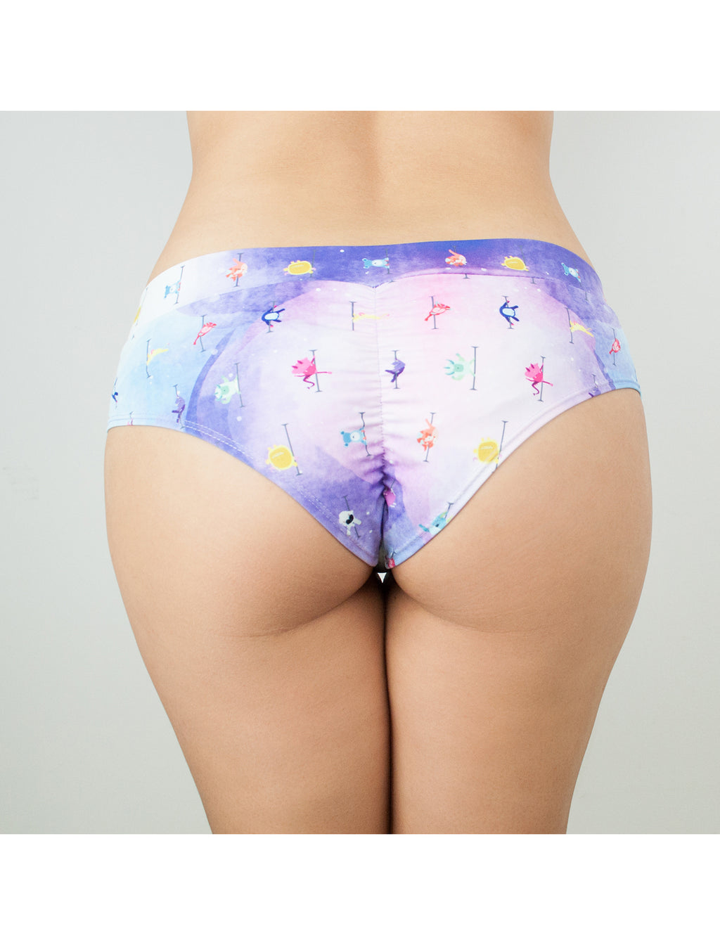 Beast Mode Pastel Swirl Cheeky Shorts