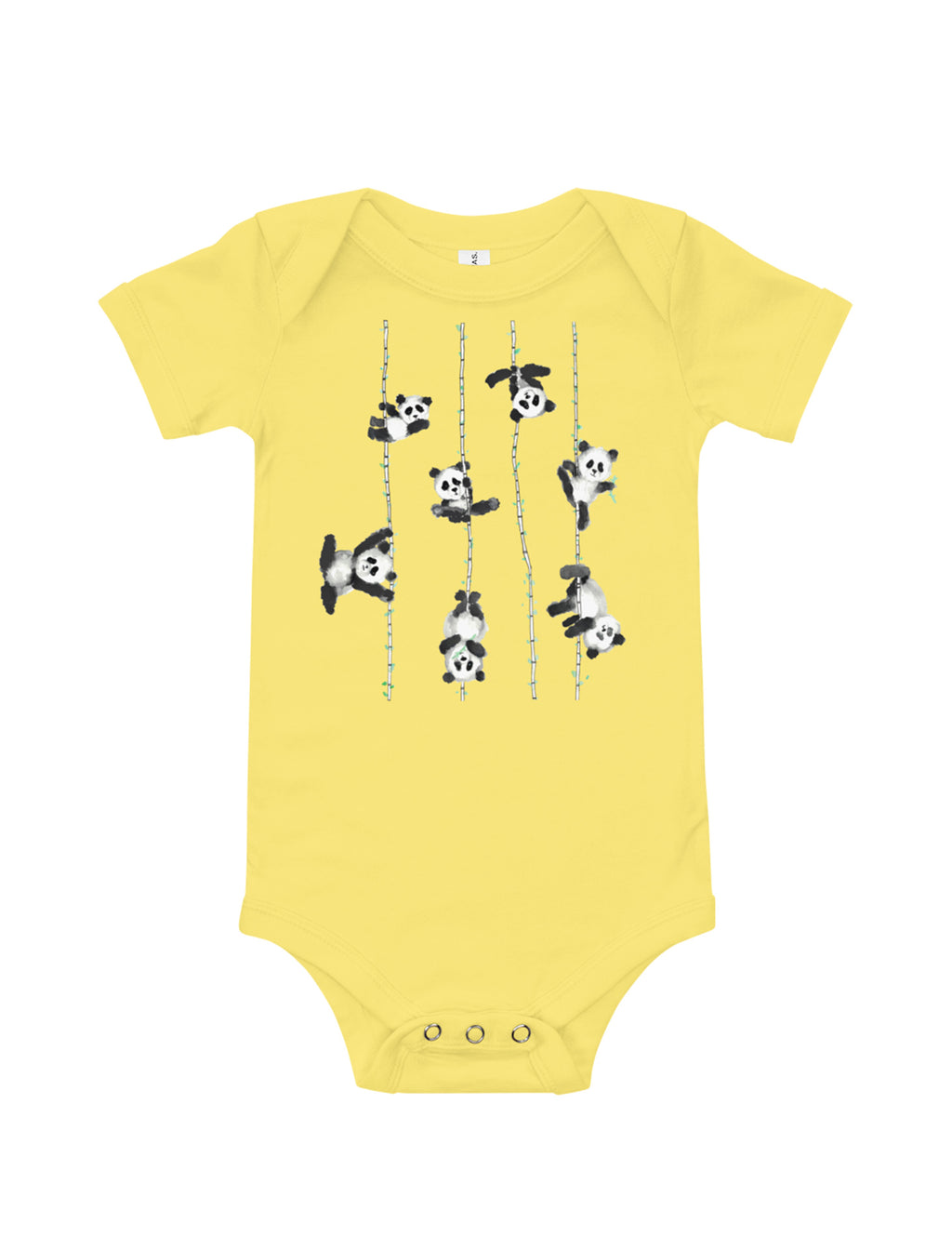 Poling Pandas Baby Short Sleeve One Piece