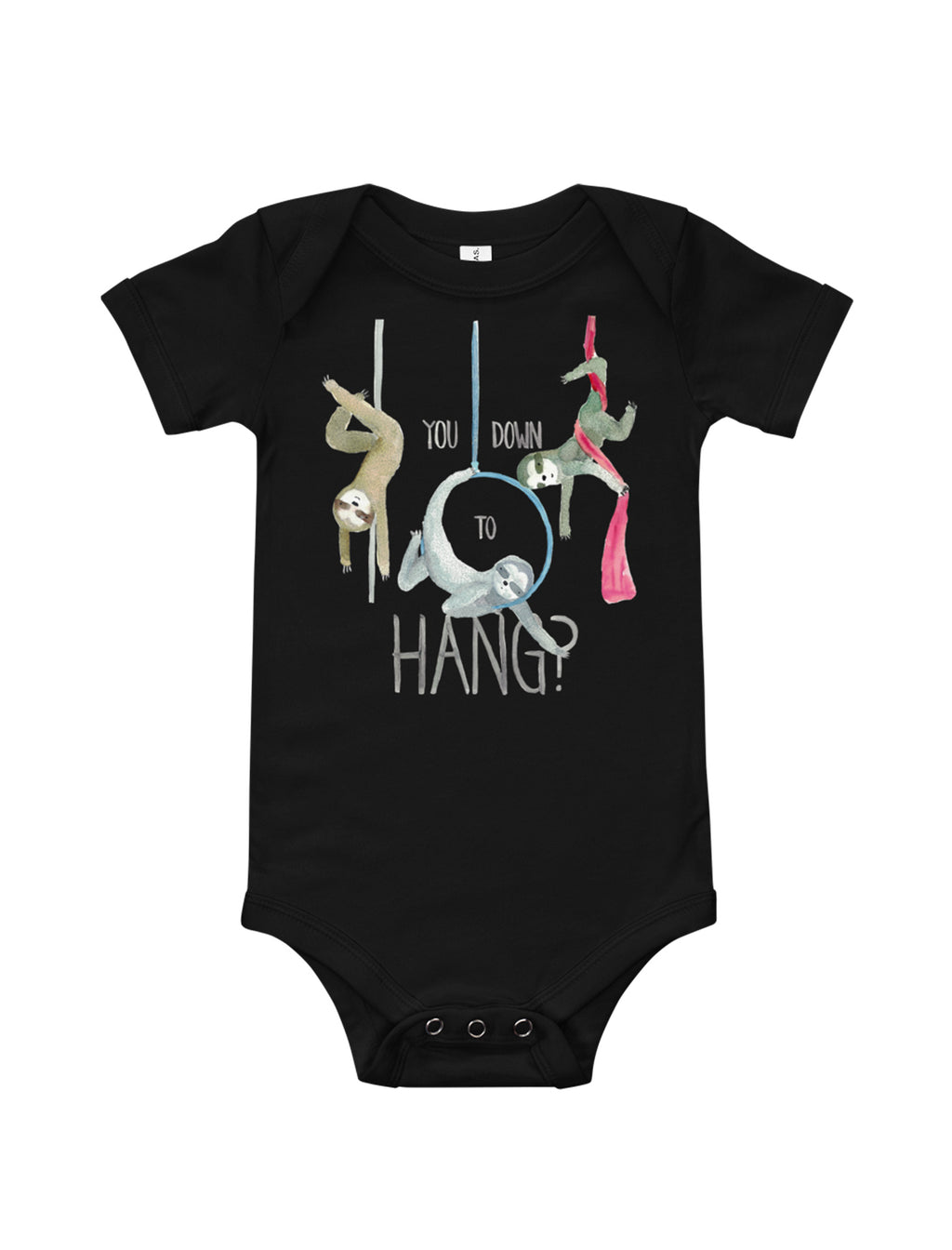 Circus Sloths Baby Short Sleeve One Piece