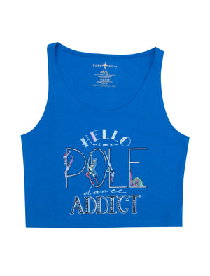 Pole Dancing Addict Cropped Tank