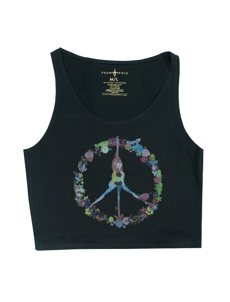 Peace, Pole, Love Cropped Tank