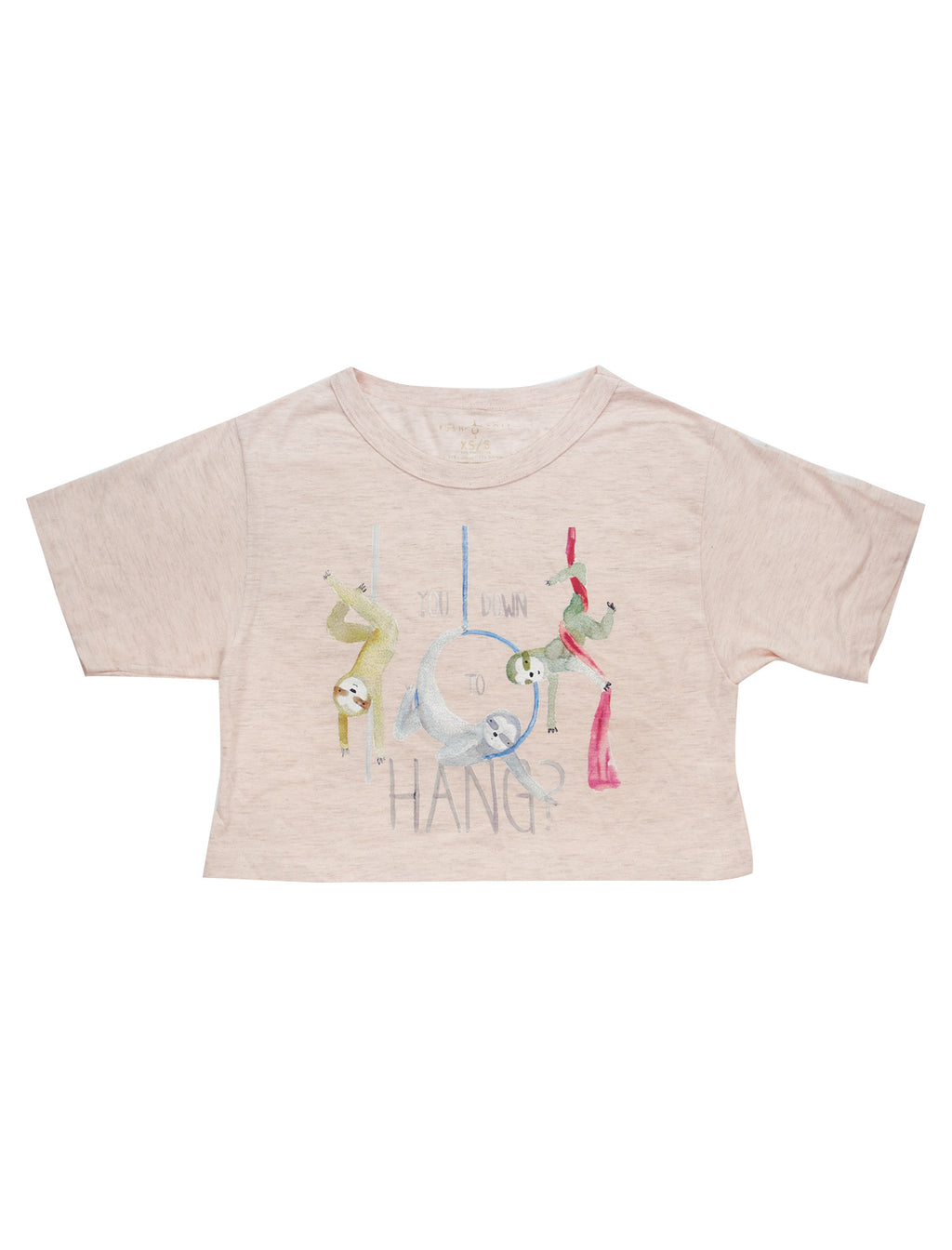 Circus Sloths Cropped Tee