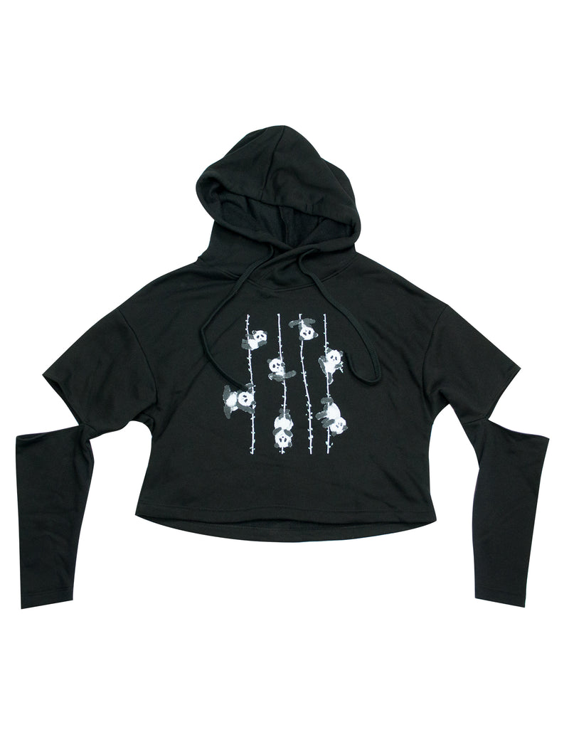 Poling Pandas Cut Out Fleece Hoodie