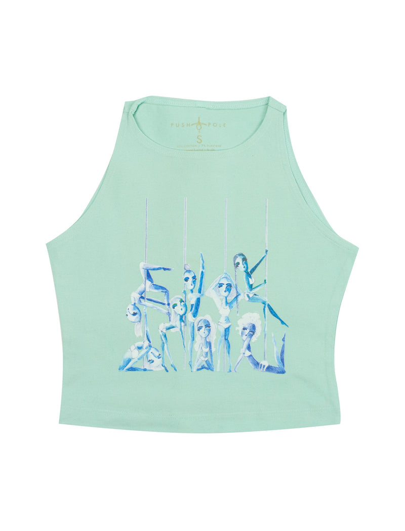Pole Sisters High Neck Crop Top
