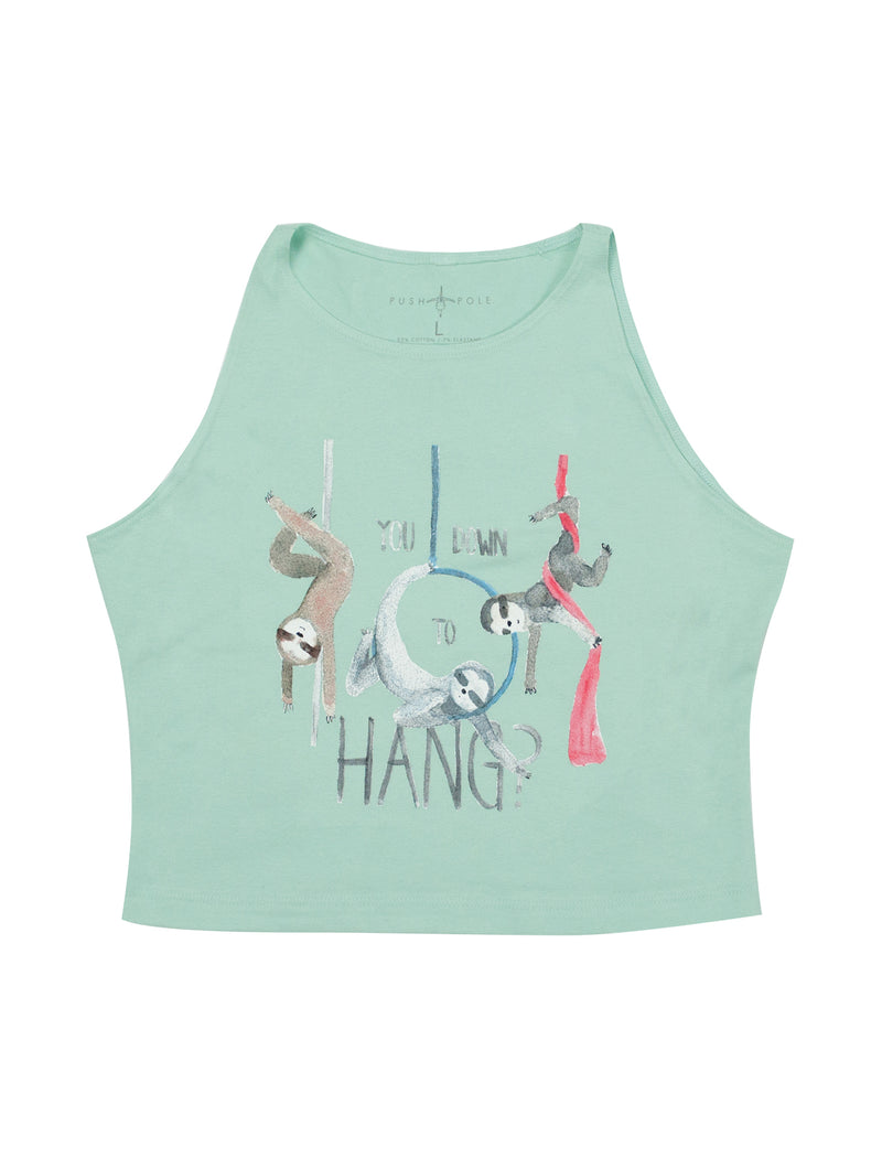 Circus Sloths High Neck Crop Top