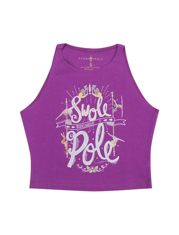 Swole Because I Pole Cropped Tank