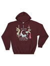 Circus Sloths Cropped Fleece Sweatshirt