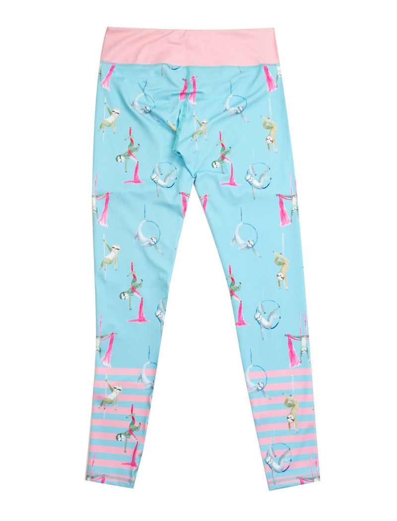 Circus Sloths Full Length Classic Printed Leggings