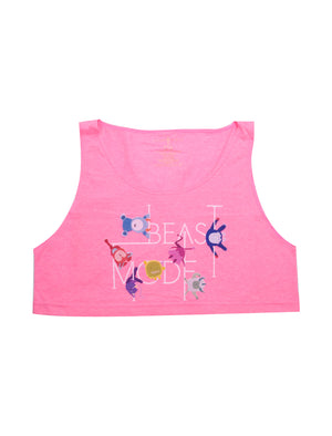 Beast Mode Loose Crop Tank