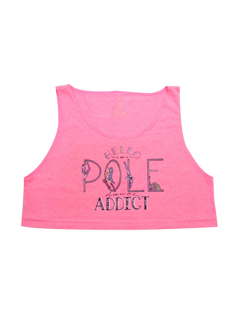 Pole Dancing Addict Loose Crop Tank
