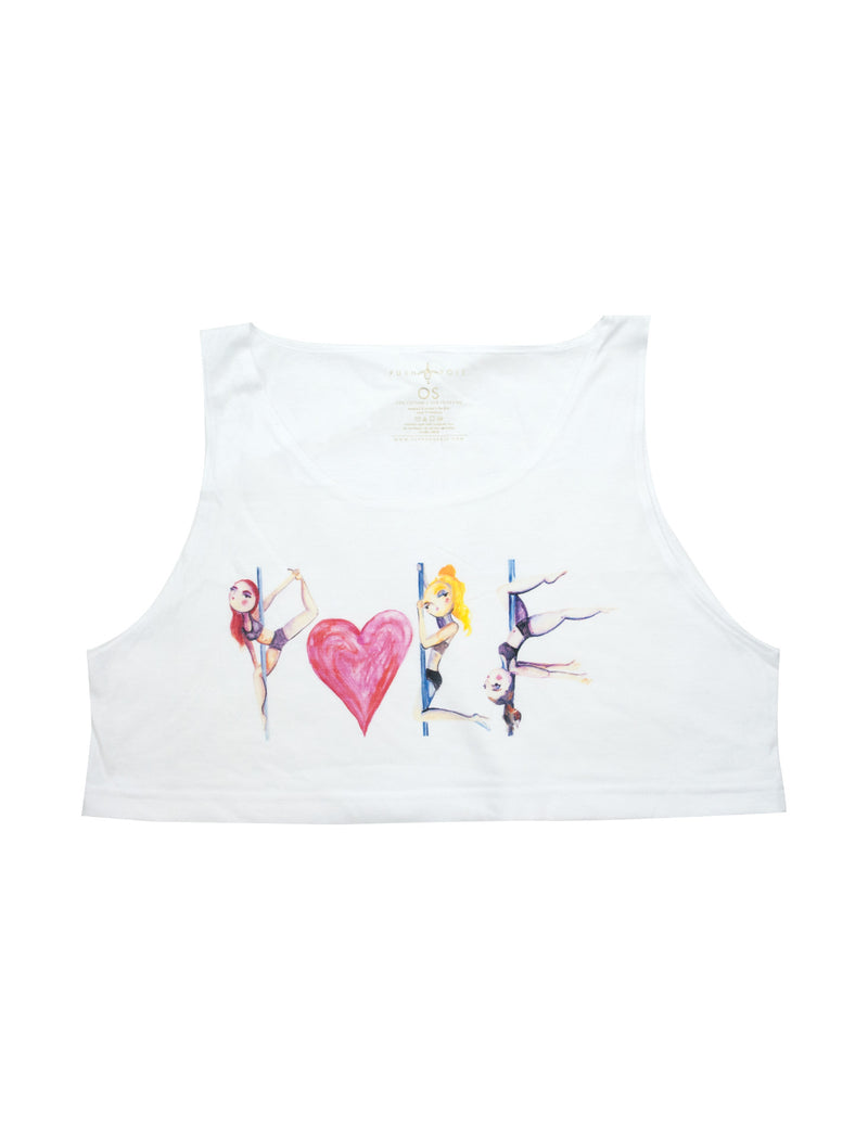 Pole Love Loose Crop Tank