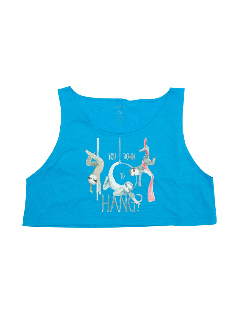 Circus Sloths Loose Crop Tank