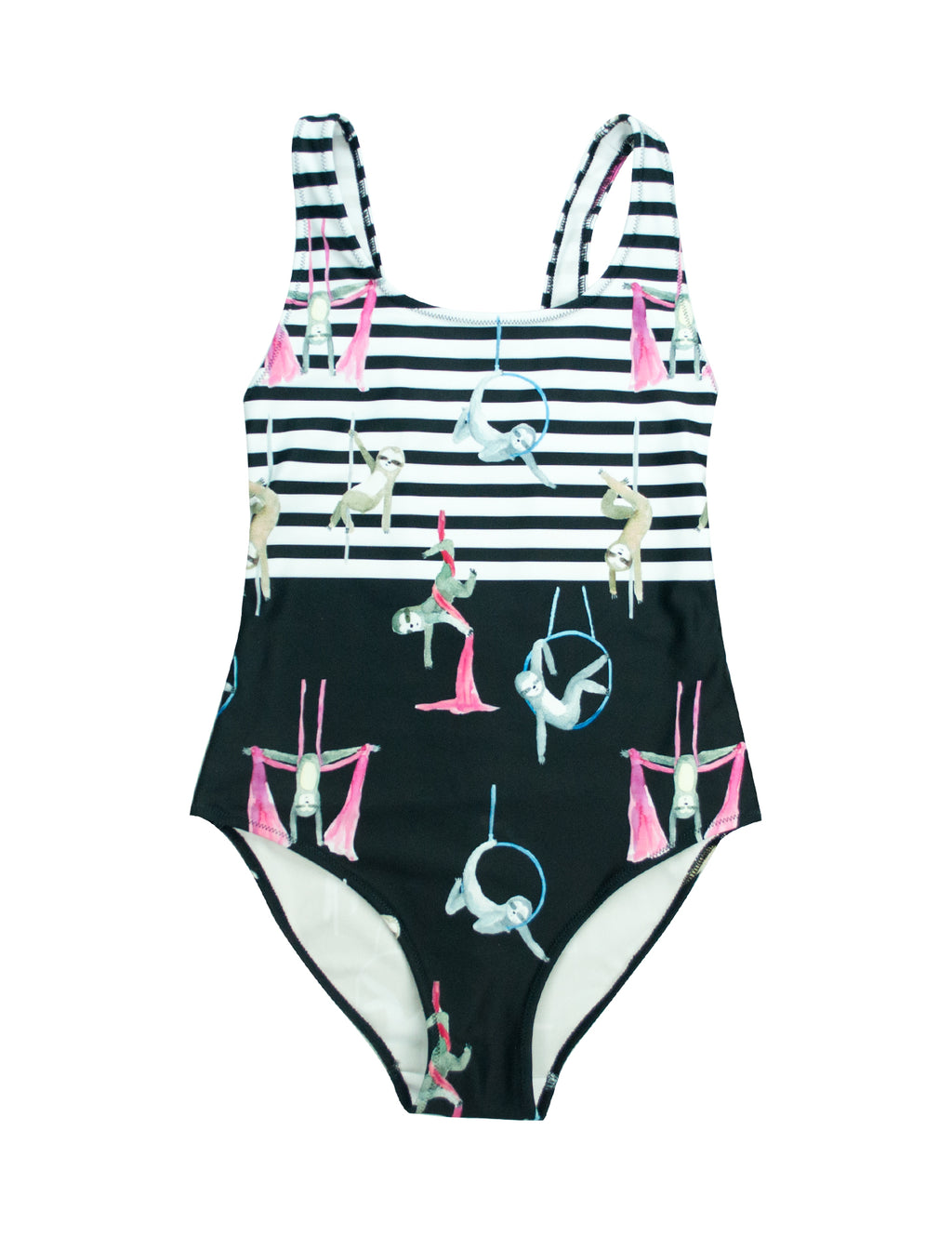 Circus Sloths Bodysuit One Piece Swim