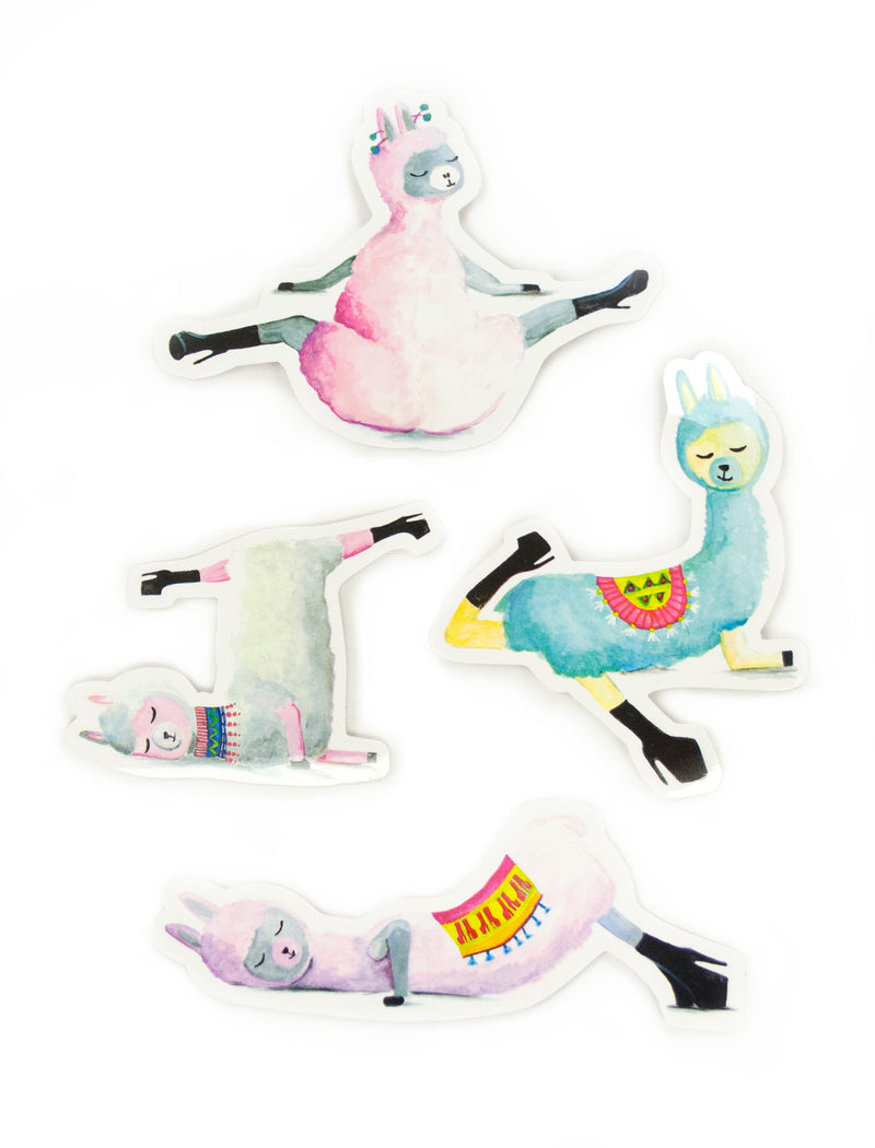 Low Flow Llamas Stickers Set of 4