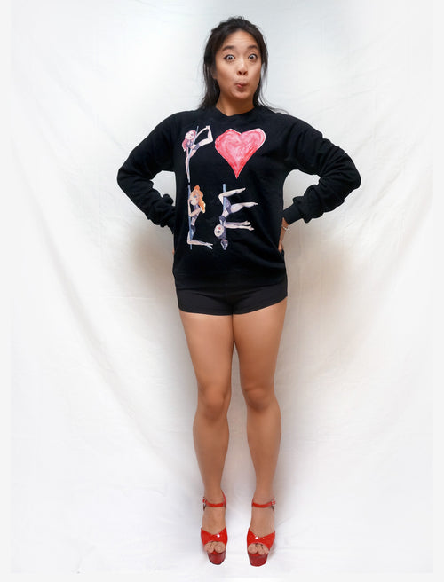 Pole Love Fleece Raglan Sweatshirt - Push + Pole - 4