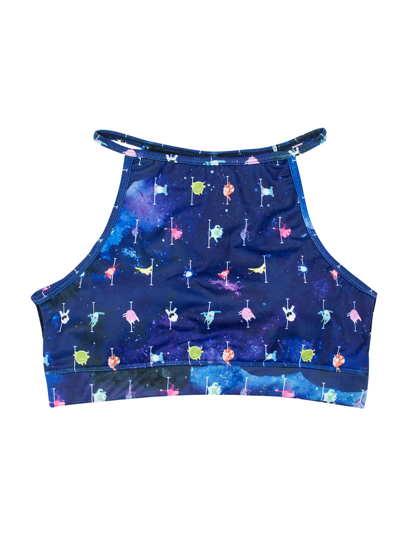 Beast Mode Galaxy High Neck Bra