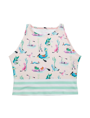Low Flow Llamas Active Crop Top