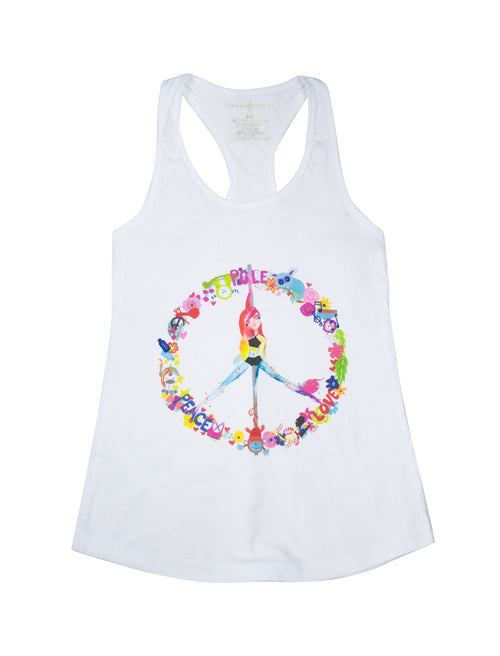Peace, Pole, Love Racerback Tank