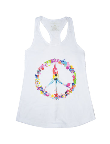 Peace, Pole, Love High Neck Crop Top