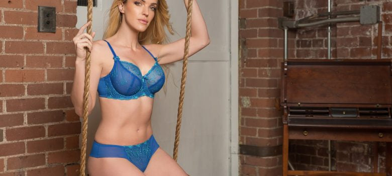 Nicole Lace Blue Green - Sheer Essentials Lingerie & Swim