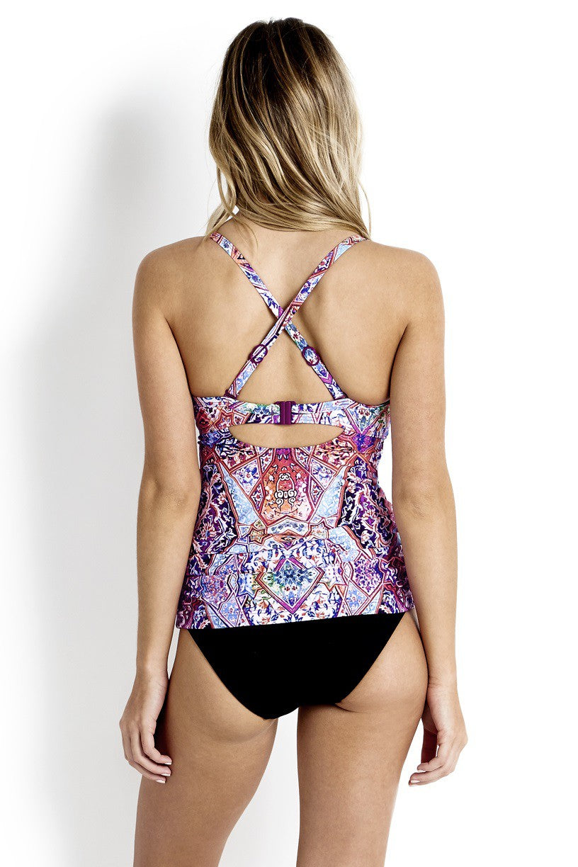 Seafolly Kashmir F Cup Halter Singlet - Size 8