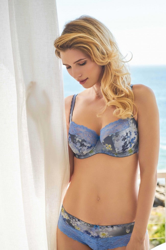 Jasmine Balconette - Blue Blossom - Sheer Essentials Lingerie & Swim