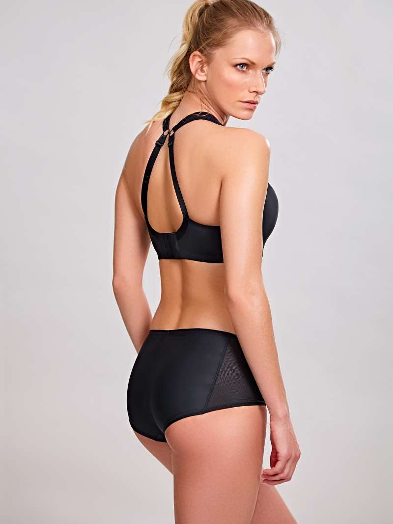 Wired Sports Bra - Black - Sheer Essentials Lingerie & Swim