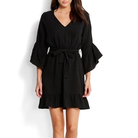 Bell Sleeve Beach Dress - Sheer Essentials Lingerie & Swim