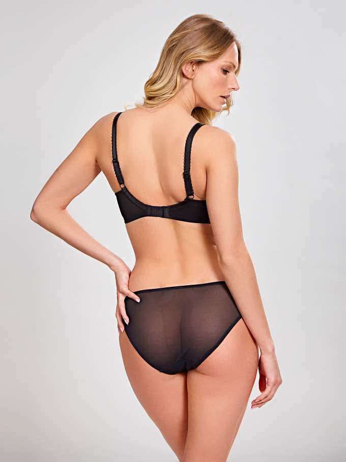 Clara Full Cup - Black/Charcoal - Sheer Essentials Lingerie & Swim