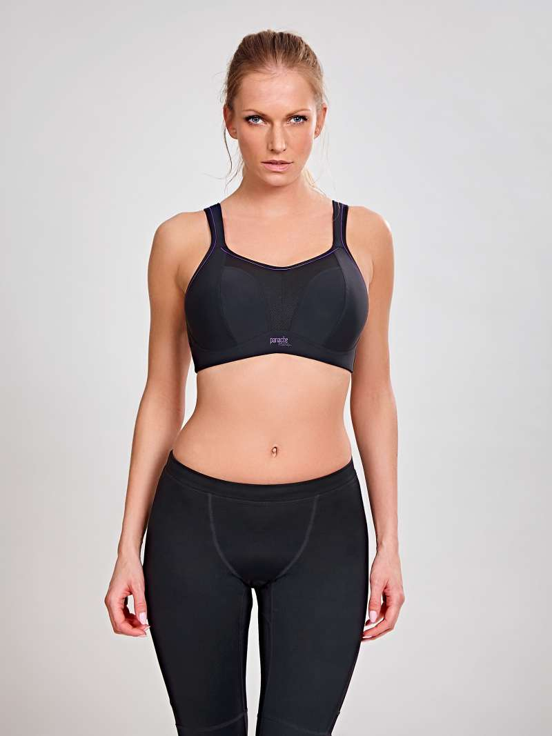 Wire Free Sports Bra - Black - Sheer Essentials Lingerie & Swim