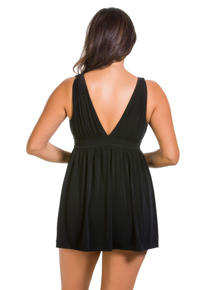 Longitude Plunge Swim Dress - Sheer Essentials Lingerie & Swim