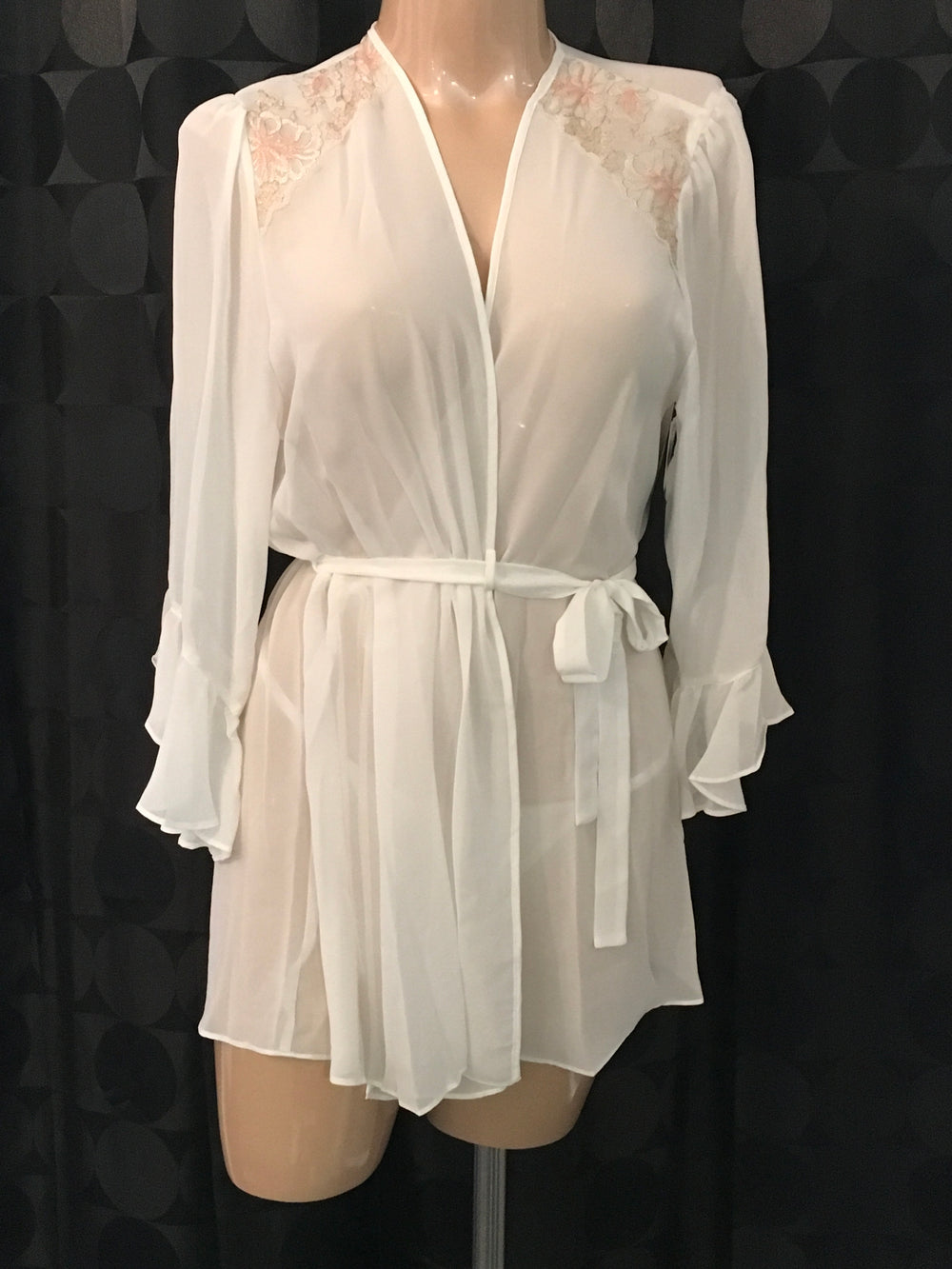 Chiffon Short Wrap Robe - Sheer Essentials Lingerie & Swim