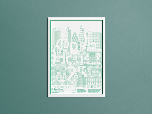 Colouring-in Open House Capriccio Poster
