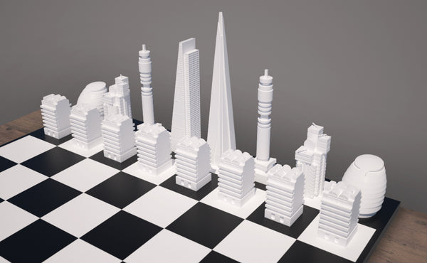 Exclusive Open House Skyline Chess Set