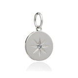 Moon Birth Star Necklace - Silver