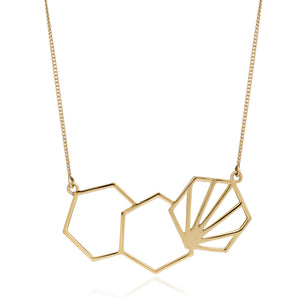 Serenity Hexagon Necklace - Gold