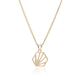 Serenity Mini Hexagon Necklace - Gold