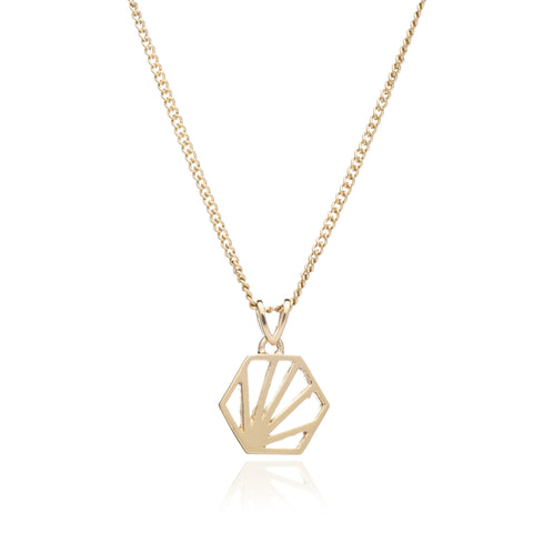 Hexagon Necklace Short Length