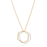 Hexagon Rings Necklace - Rachel Jackson London