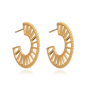 Queen of Revelry Statement Hoops - Gold
