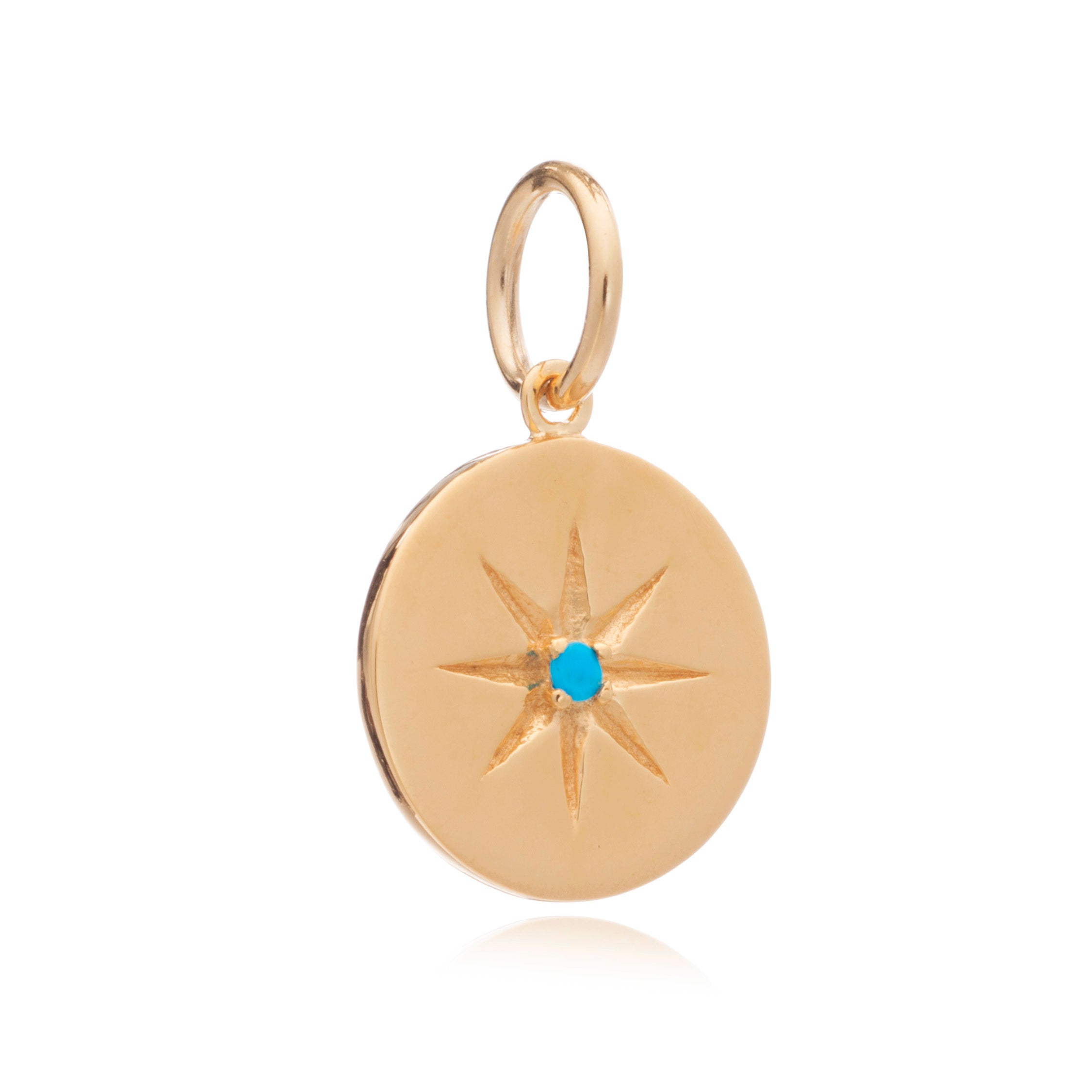 Mother of Daughters December Birthstone disc charm gold Rachel Jackson London