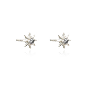 Rockstar Diamond Stud Earrings - Silver