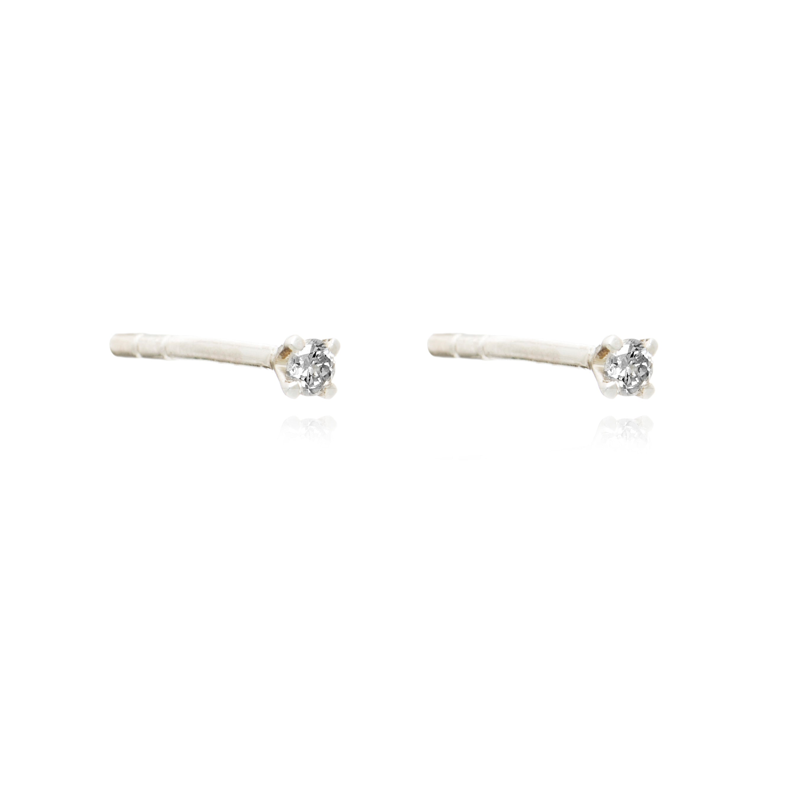Diamond stud silver Rachel Jackson London