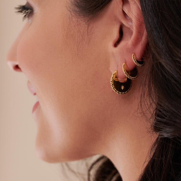 Dina Tokio Small Gold Crescent Hoop Earrings