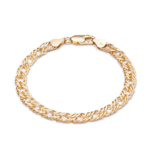 Statement Chevron Chain Bracelet - Gold
