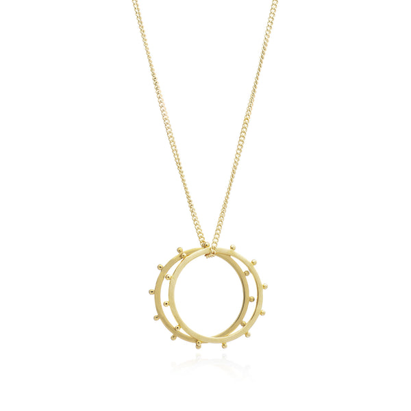 Studded Rings necklace gold Rachel Jackson London
