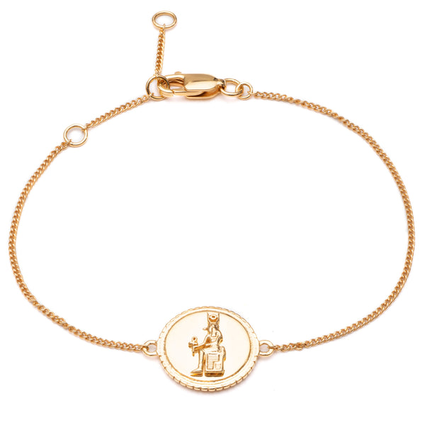 Queen of Revelry Coin Bracelet - Gold